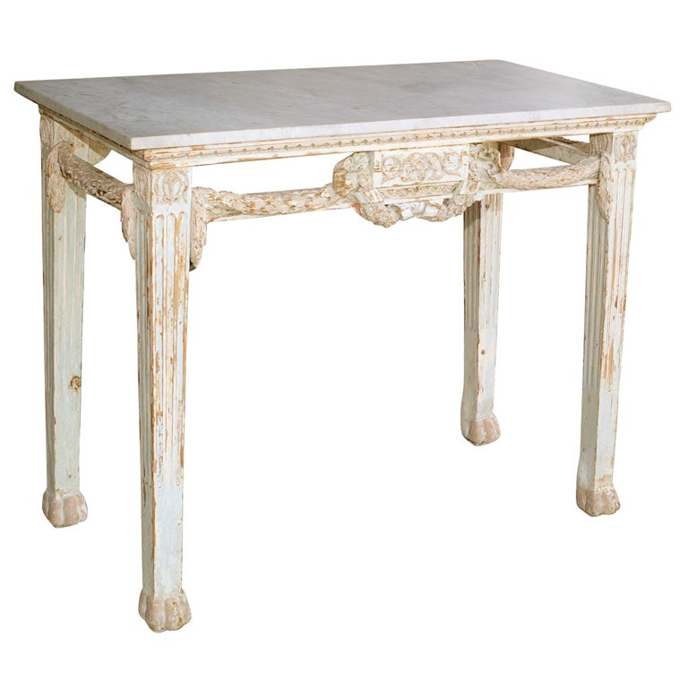 Marble Top Console Table At 1stdibs