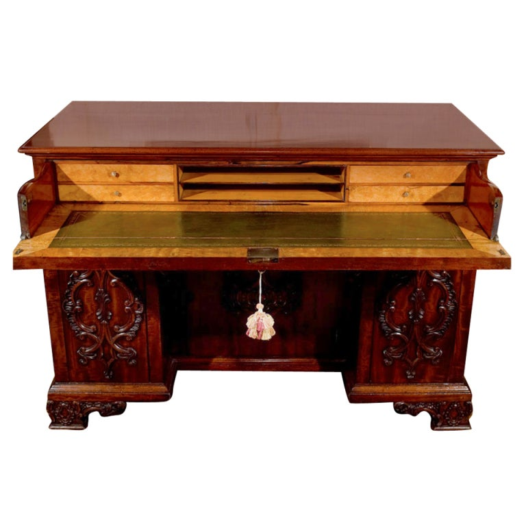 Chippendale Style Mahogany Desk