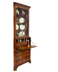 Irish Mahogany Corner Secretary