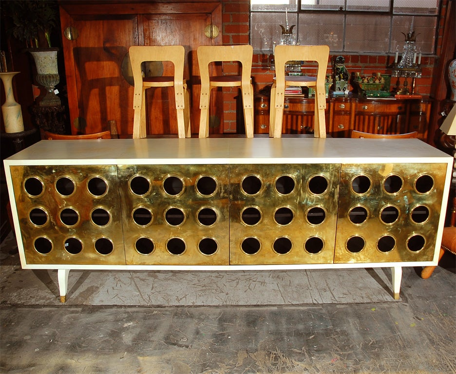 Parchment and Brass Credenza image 2