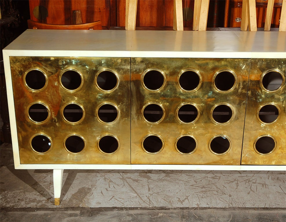 Parchment and Brass Credenza image 3