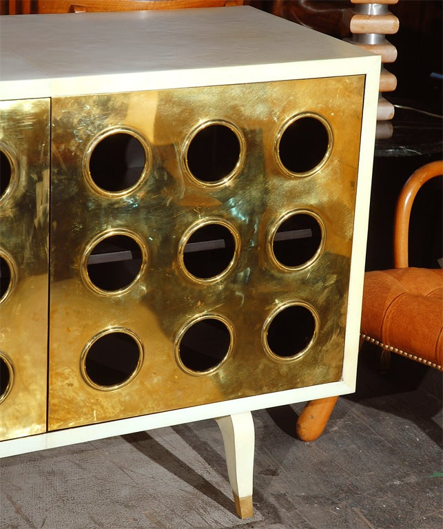Parchment and Brass Credenza image 4