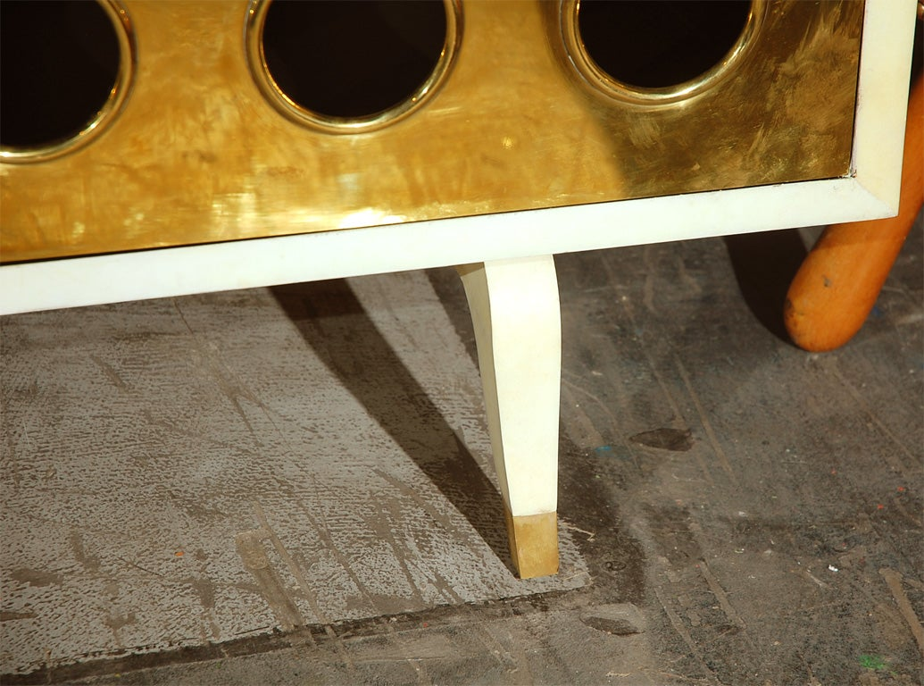 Parchment and Brass Credenza image 5