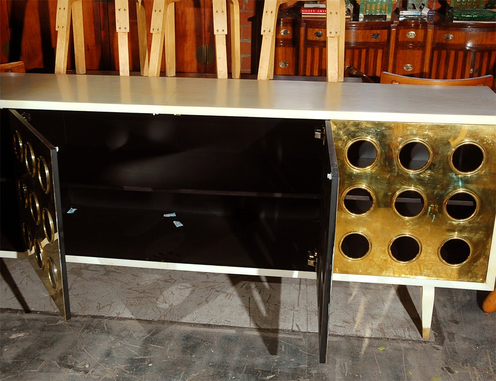 Parchment and Brass Credenza image 6