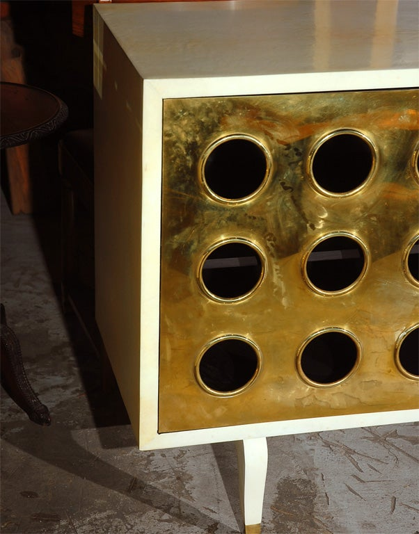 Parchment and Brass Credenza image 7