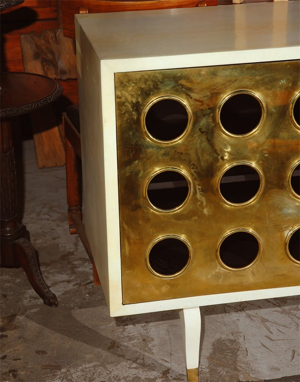 Parchment and Brass Credenza image 8