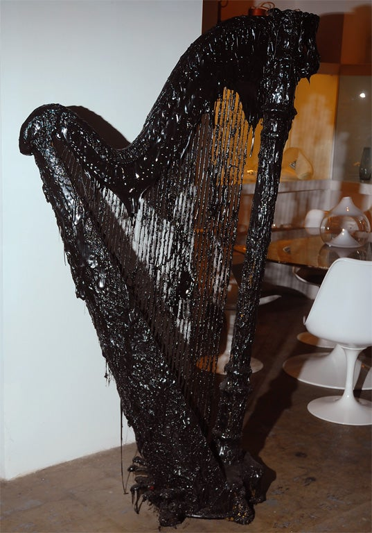 Created by Italian artist Mattia Biagi, this is a one of a kind 'Tar Harp'. All pieces come with a