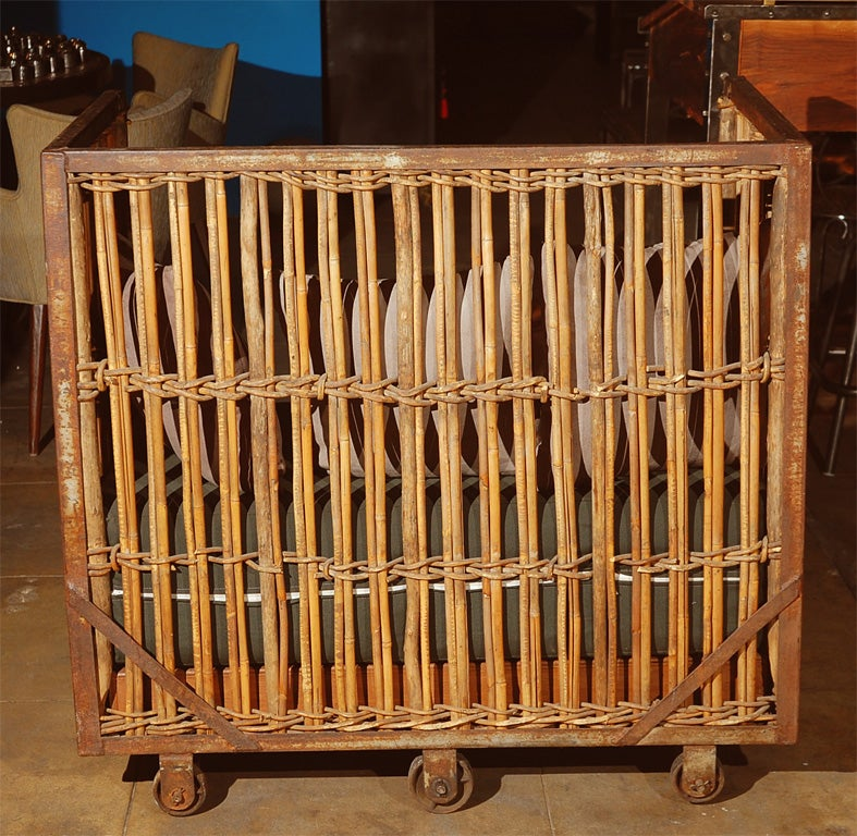 Industrial Laundry Basket Chair At 1stdibs