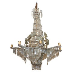 Large French Gilt  Crystal Chandelier