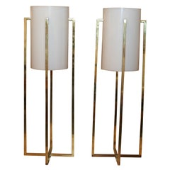 Pair of Tall Table Lamps by Robert Sonneman