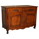 Antique French fruitwood buffet.