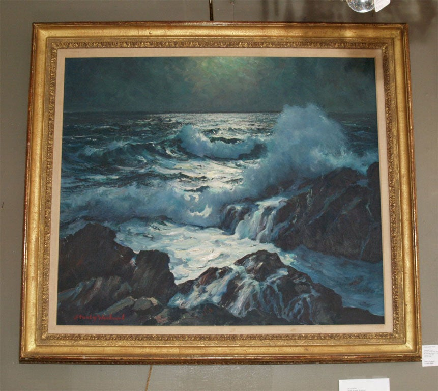 "Oil on canvas ""Moonlight at Land s End"" at 1stdibs"