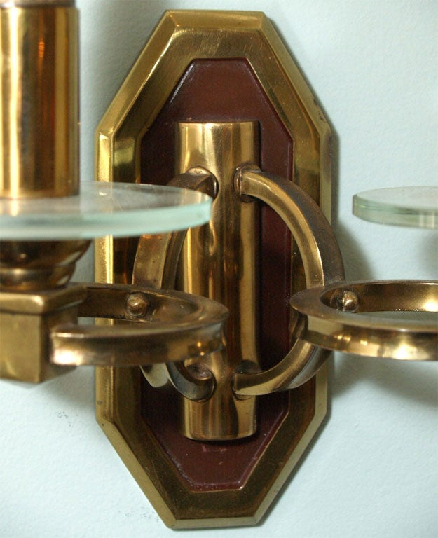Pair of Sconces in Brass and Bronze 4