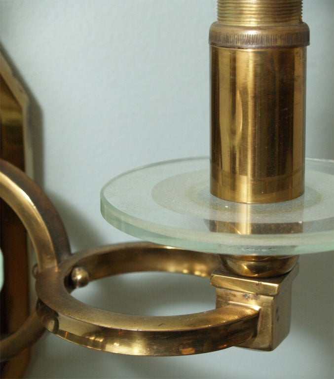 Pair of Sconces in Brass and Bronze 5