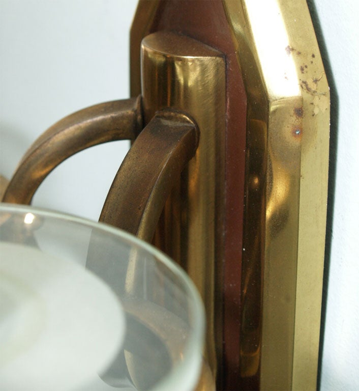 Pair of Sconces in Brass and Bronze 6