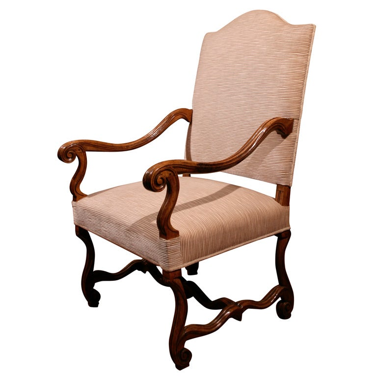 louis xiv style fauteuil 19th c at 1stdibs. Black Bedroom Furniture Sets. Home Design Ideas