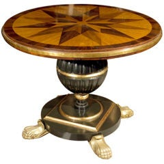 Early 19th Century Italian Continental Centre Table on Bronze Feet