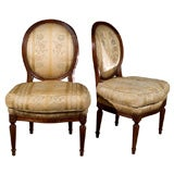 Pair of Maison Jansen Louis XVI Boudoir or Childrens Chairs