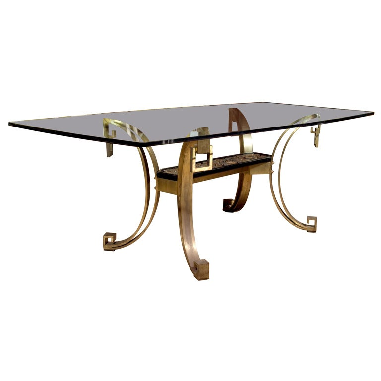 Bronze Base and Glass Top Dining Table at 1stdibs : xGenesisGreenwich 1 from www.1stdibs.com size 768 x 768 jpeg 29kB