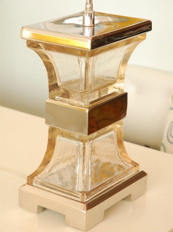 Vintage Glass Block Lamp At 1stdibs
