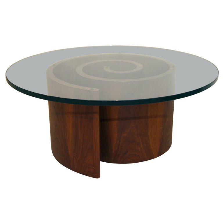 A Vladimir Kagan 39 Snail 39 Glass Coffee Table At 1stdibs