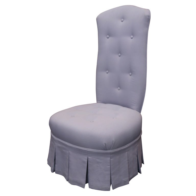 1940u0027S LAVENDER FRENCH BOUDOIR CHAIR For Sale