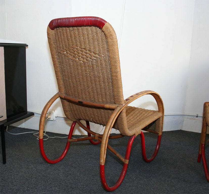 Futurist Wicker Furniture Made In 1930 For Sale At 1stdibs