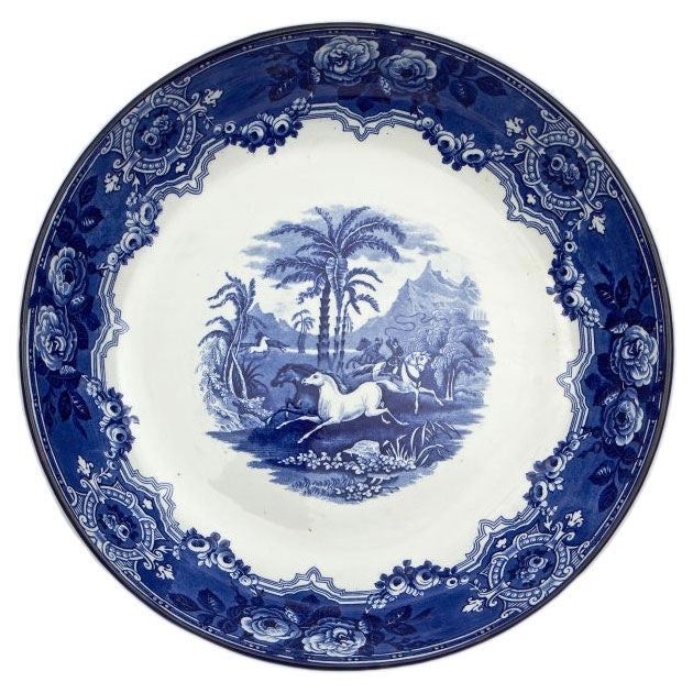 19th Century Blue and White Staffordshire Bowl