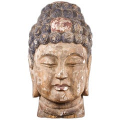 19th Century Chinese Buddha Head