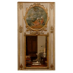Louis XVI Period Trumeau with Oval Pastoral Scene, c. 1790