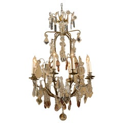 Louis XV style Bronze and Cut-crystal Chandelier, c. 1890