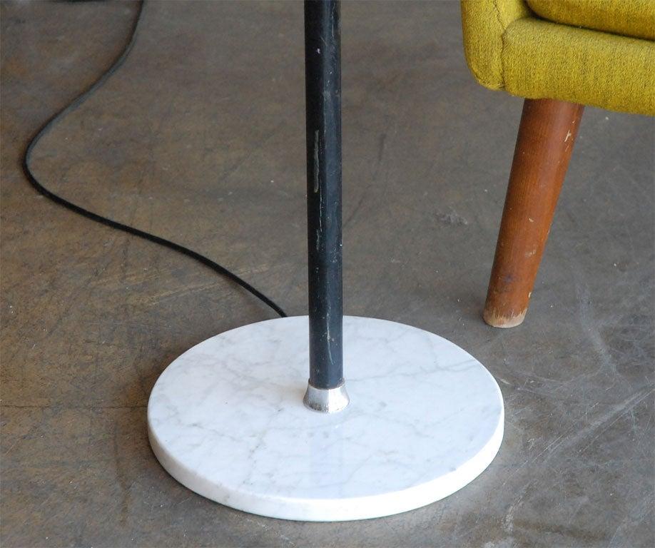 Chrome Arteluce  triennale floor lamp by Gino Sarfatti