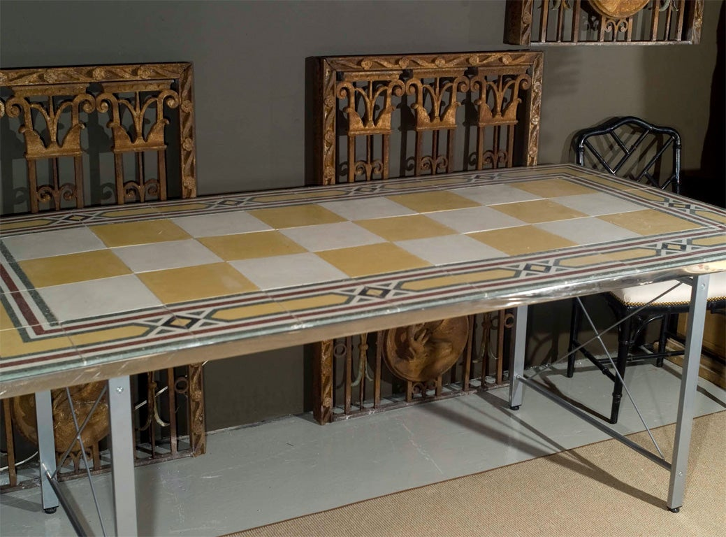 1950 39 s mosaic tile top table at 1stdibs