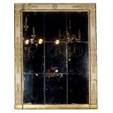 Mirror in gilt gesso frame - French