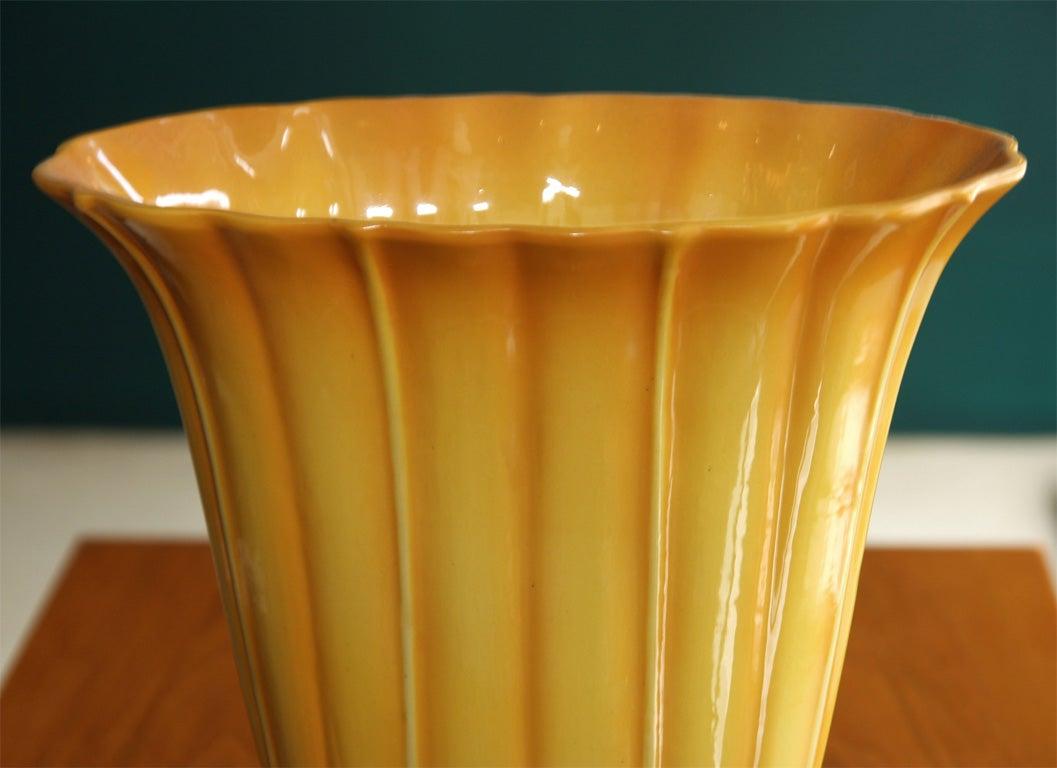 Yellow Ceramic Vase by Gio Ponti for Ginori, Italian 1920s image 5