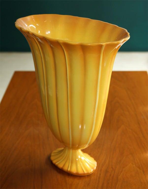 Yellow Ceramic Vase by Gio Ponti for Ginori, Italian 1920s 6