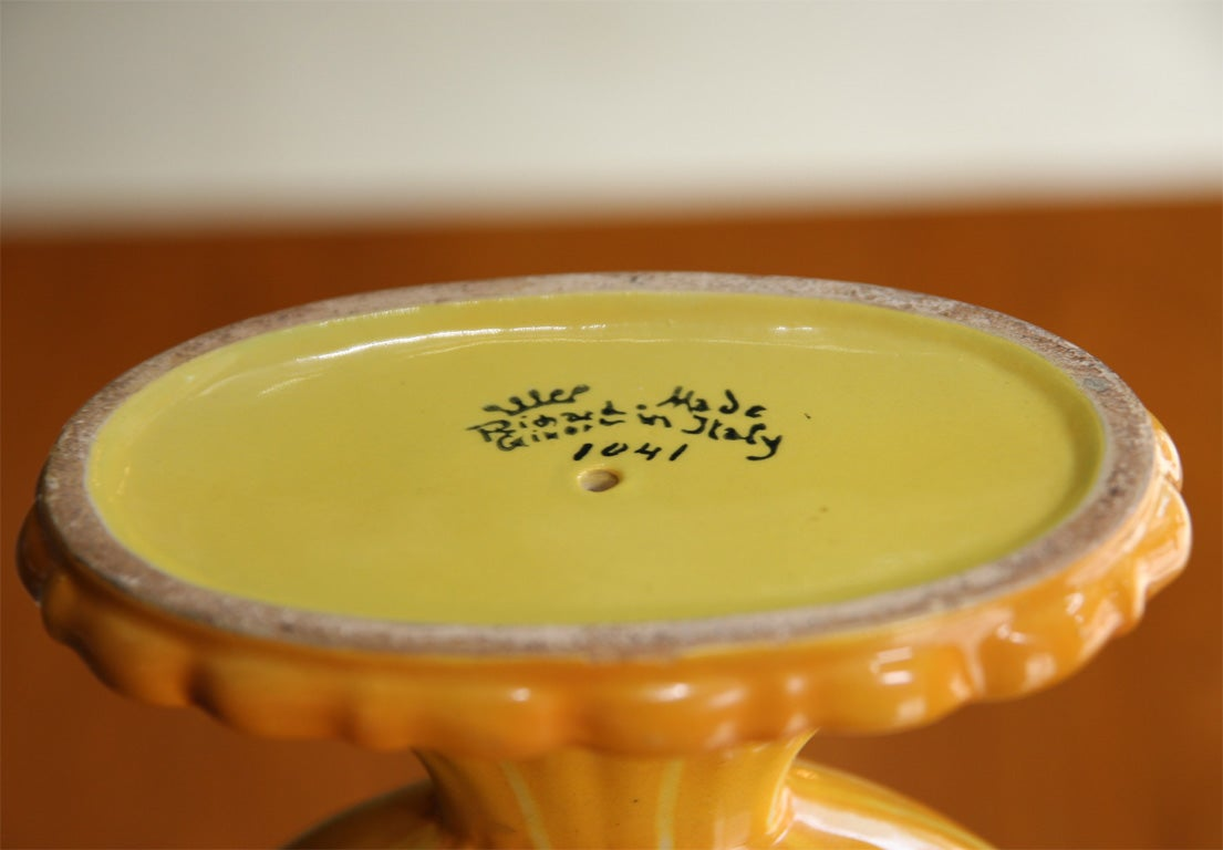 Yellow Ceramic Vase by Gio Ponti for Ginori, Italian 1920s image 7