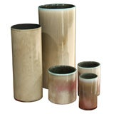 Group of Five Vases by Georges Jouve, French 1950s, signed.