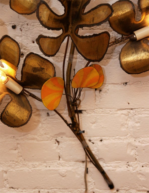 Decorative Wall Sconce by Curtis Jere 6