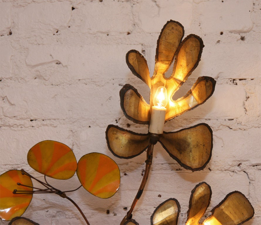 Decorative Wall Sconce by Curtis Jere 3