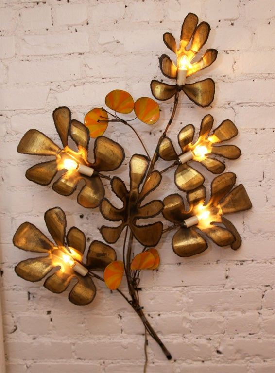 Decorative Wall Sconce by Curtis Jere 2
