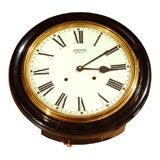 An English Ebonized  Waiting Room Style Clock, Circa 1930