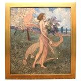 """Art Nouveau Painting by Alexander Goltz, """"Fruhling"""""""