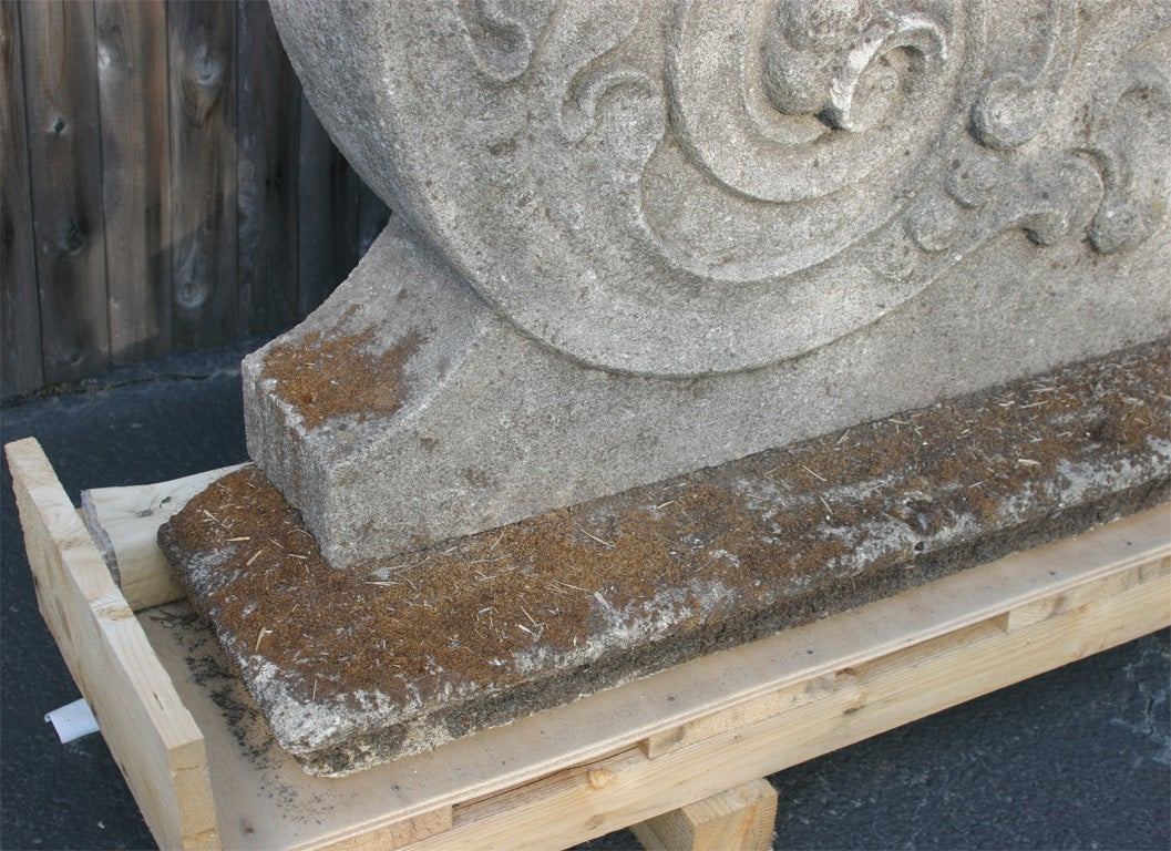 Set of four carved stone architectural elements for sale