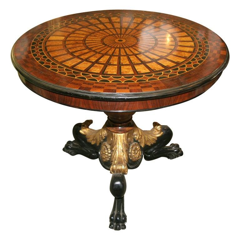 Mahogony Parquetry Center Tables