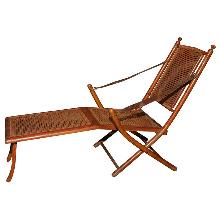 19th C Faux Bamboo Campaign Folding Chair at 1stdibs