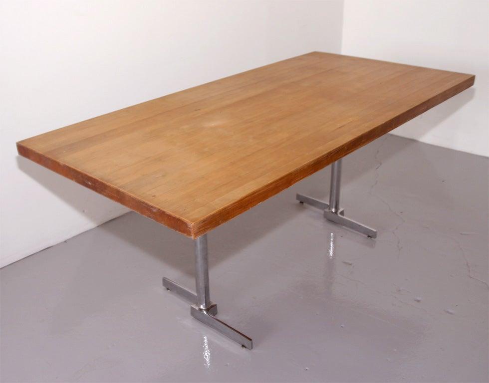 oak butcher block table for sale at 1stdibs
