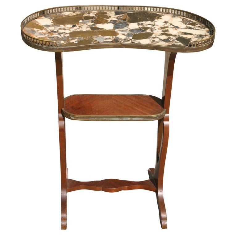 Kidney Shaped End Table At 1stdibs