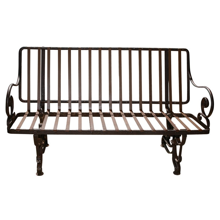 Antique French Iron Park Bench For Sale At 1stdibs