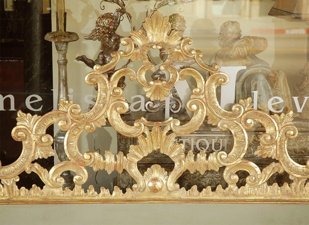Gold Italian Giltwood Carved Headboard C. 1930's